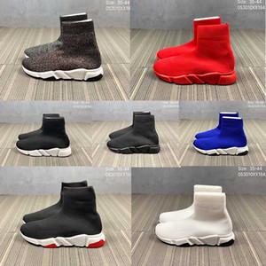 La mejor calidad de balenciaga negro 2019 calcetines zapatos para hombres mujeres triple negro azul rojo zapatos casuales diseñadores transpirables zapatillas de moda
