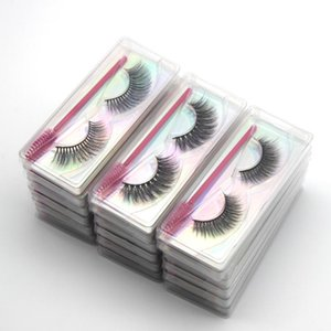 DamePapil Faux Mink False Eyelashes Bulk Wholesale 10 20 30 40 50 100 Pairs Full Strip Hand Made 3d Lashes In Bulk with Brushes