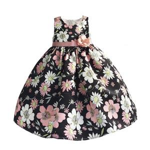 Hetiso menina floral verão mangas vestido de festa com raça cor-de-rosa rapariga colete vestido infantil tamanho 3-8t q1118