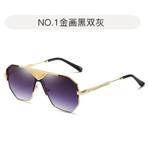 2021 New Fashion Men's Sunglasses Trend Personality OLOEY Irregular Metal Sun Glasses for Women Camping Hiking UV400 Oculos