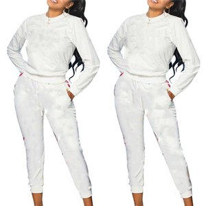 womens sportswear pullover leggings designer outfits 2 pieces set tracksuit long sleeve shirt pants sportsuit sweatshirts comfortal klw5720
