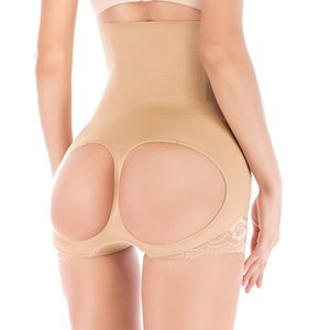 High Waist Body Shaper Slimming Panties Butt Lift Booster Booty Lifter Bonded control Tummy Hip Enhancer Shapewear belly T200707