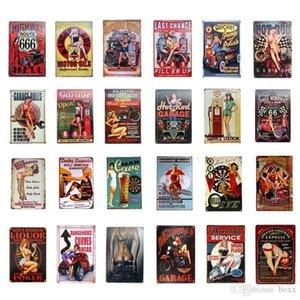 2021 Pin Up Sexy Lady Lady Segni di Tin Art Wall Poster Decorazione Pub Cafe Bar Party Garage Automobile Negozio Metallo Parete Manifesto Vintage Home Decor 20x30cm