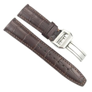 20mm 21mm 22mm Italian Cowhide Watch Strap Needle Folding Buckle Leather Watchband Suitable for PORTUGIESER Series Watch