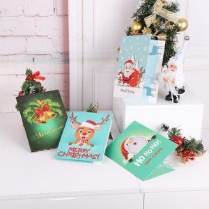 DIY Animal Holiday Inviting Cross Stitch Card Halloween Christmas Birthday Diamond Painting Invitation 3pc
