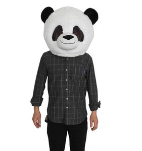 Panda Plush Animal Mask Mascot Head Costume For Adult Halloween Christmas Party Fancy Dress