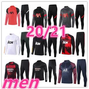 2020 2021 جديد رجل المدربين Soccer Bracksuit 20 21 رجل كرة القدم التدريب رياضية تدريب كرة القدم دعوى سترة السراويل رياضية