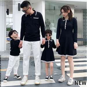 Mother And Daughter knitting dress Family Matching Outfits Son and Mum Shirts Father Daddy and Mini Baby Clothes Autumn Sweater A5256