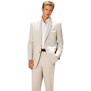 Custom Made Ivory Men Suit, Tailor Made Suit, Bespoke Light Navy Blue Wedding Suits For Men, Slim Fit Groom Tuxedos For Men