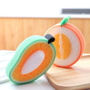 Esponja de engrosamiento de la fruta para limpiar el paño de la microfibra Paño de plato al por mayor fuerte descontaminación plato toallas GWB4043