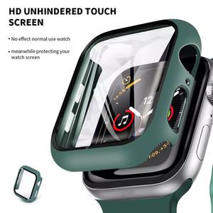 Защитный чехол для Apple Watch Iwatch Series 6 5 4 3 2 1 с закаленным стеклом противоударный крышка