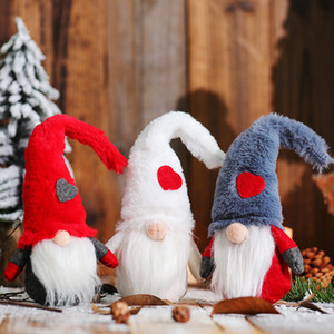 Love Gnome Valentines Day Gnomes Plush Hat Faceless Doll Valentines Day Gifts Hotel Shopping Mall Window Decorations XD24432