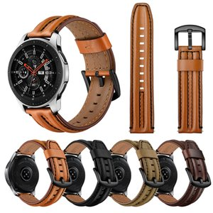 Genuine Leather Straps 20mm 22mm for Samsung Galaxy Gear S3 46mm Universal Cowhide Watchband for Amazfit bip GTS Watch Band