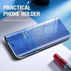 Smart Sleep Mirror Phone Covers Case For Xiaomi Pocophone Little Poco M3 M 3 Magnetic Stand Book Coque O wmtoCb