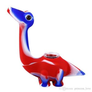 Mini Silicone Water Bongs glass water bongs cute style dinosaur Smoking Silicone Bongs Water Pipes unbreakable dab rig