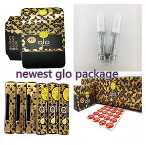 Newest Glo Vape Pen Cartridge 1ml 510 Cartridge 0.8ml 510 Thread Carts Ceramic Coil For Thick Oil E-cigarettes Newest Packaging