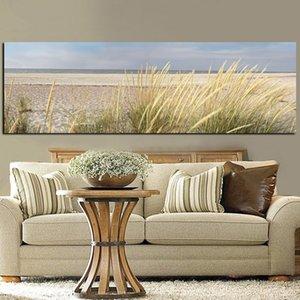 Стена холст искусства морской пейзаж пляж пейзаж живопись плакат HD печати небо остров песок дюн хвост трава настенные фотографии для гостиной Y200102