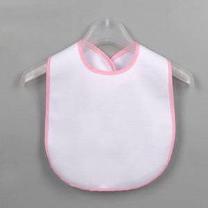 Sublimation Leeres Baby Lätzchen DIY Thermal Transfer Baby Burp Tücher Wasserdichte BIB KIND Artikel 5 Farben M3147