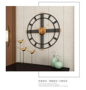 Wall Clocks 50cm Modern Minimalist Clock Living Room Nordic Style Iron Mute