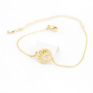 Wholesale 10pcs Earth Bracelet Stainless Steel Globe Bracelets For Women Men Jewelry Y1130