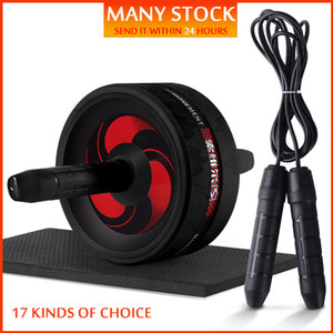 New 2 in 1 Ab Roller&Jump Rope No Noise Abdominal Wheel Ab Roller with Mat For Arm Waist Leg Exercise Gym Fitness Equipment Q1125