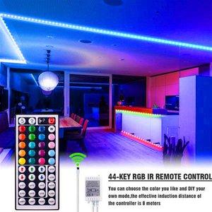 Novo Design 40W 12V-5050RGB 44 Teclas 10 metros 300 Luzes Dimbable À Prova D 'Água Tiras de Luz Superior Luzes Luzes Tira