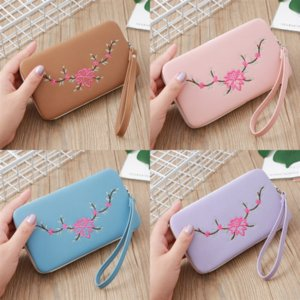 OkRi Long New Women caseme wallet case for Wallet Designer Purse Zipper Bag Ladies Card Holder Pocket Top Quality