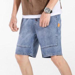 2020 Men Summer Short Men's Classic Jeans Shorts Trouers Brand DenimLight Blue Bigger Size 44 46 48