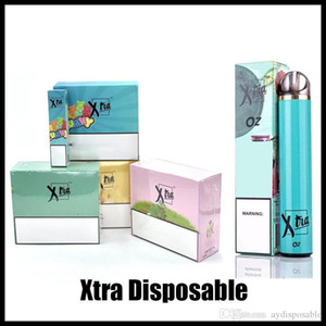 2020 Buff Xtra Xtra Disable Vape Pen 1500Puffs Pré-preenchido 5.0ml Cartucho Carrinhos PODs Kits Kits Vaporizador Ecigs Barras Plus Sistema Vapor
