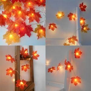 Maple folhas lâmpada string LED luz acima brinquedos luzes de halloween room quarto decorativo bateria livre venda quente com alta qualidade 4 9md j1