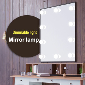 LED 12V della lampadina di Hollywood Vanity Luci trucco dello specchio della luce continua della riduzione luminosità della lampada da parete 6/10/14 Bulbi Kit per Dressing Table all'ingrosso