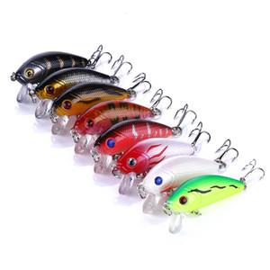 HENGJIA Lazer Balıkçılık Lure Minnow 20Pcs / lot 5CM 3.6g 10 # kanca balık alabalık Klasik Minnow japonya Tiz Hook cazibesi mücadele