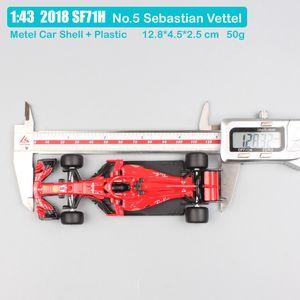 Çocuklar 1:43 Ölçekli Bburago Racer RB15 SF71H SF90 Kimi Raikkonen Charles Leclerc Sebastian Vettel Diecast Model Araç Araba Oyuncak 2019Q1221