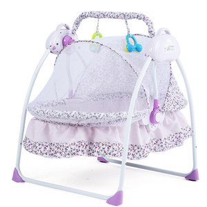 New Style Baby Bed Electric Cradle Folding Baby Cradle With Mosquito Nets Smart Multi-functional Portable For