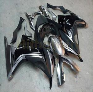 Inyección del nuevo ABS carenados Fit Kit para la plata blanca NEGRO Kawasaki Ninja 300 EX300 13-17 2013 2014 2015 2016 2017 kits de cuerpo de la carrocería