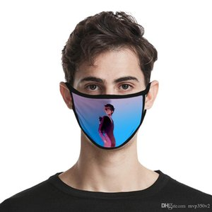 طباعة مصنع جديد الغبار النسيج 2020 يي مصمم لو ون أقنعة 3d الرقمية الأزياء الموضة الجليد مخصص آلهة الوجه قناع قابل للغسل سيل etgp