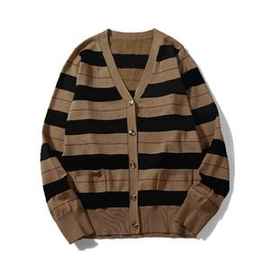 2020 Nueva moda de invierno de punto de la rebeca de los hombres suéter de las señoras que cosen el suéter de los hombres chaqueta de punto del tamaño M-XXL