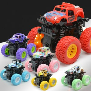 Mini Inertial Off-Road Vehicle Pullback Children Toy Car Plastic Friction Stunt Car Juguetes Carro Kids Toys for Boys
