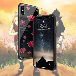 Hot Japan Anime Customized Design Shockproof Glass Light Back Cover Protective Mobile Naruto Phone Case