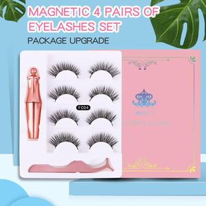 5 magnets 4 pairs of magnetic eyelash makeup magnetic eyeliner tweezers set durable waterproof reusable false eyelash set