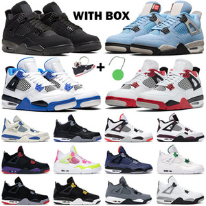 남성용 농구화 jumpman 4s Black Cat Metallic Purple bred 4 Alternate Bel 5s Fire Red UNC Varsity Royal 남성 스포츠 스니커즈