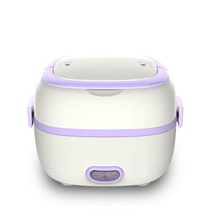 طباخات الأرز مصغرة الكهربائية ساخنة الغداء مربع طباخ الحرارية المحمولة 2 طبقات باخرة الطهي حاوية وجبة الغداء