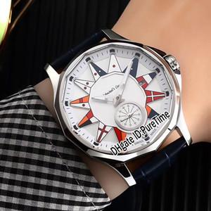 Новый Кубок Admiral Legend 42 A395 / 03155-395.101.20 / F371 AA12 Стальной корпус белый циферблат автоматические мужские часы Кожаные спортивные часы Sapphire C-5A1