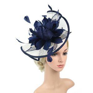 Haarclips Barrettes Vintage Frauen Fascinator Clip Damen Tag Rennen Hochzeit Party Bankett Bridal Tiara Headwear