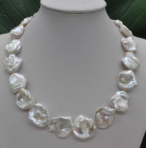 """NEW Natural Rare white 20-23mm Baroque Keshi cultured Pearl Necklace 18"""""""
