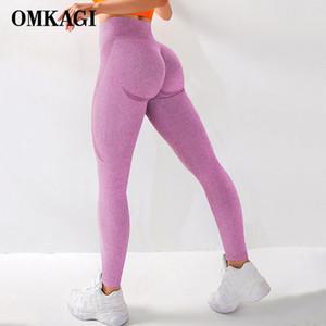 OMKAGI High Waist Seamless Legging Gym Sport Pants Femme Push Up Fitness Elastic Sexy Workout Women Sport Yoga Leggings Women Q1125