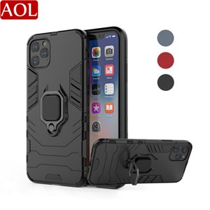 Hybrid Hard Shockproof Armor Case With Finger Stand Ring For iPhone 12 11 Pro Max Xiaomi Huawei Samsung OPPO VIVO Moto Oneplus Cover
