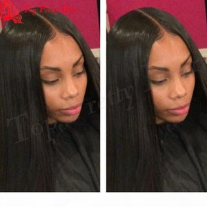 Brésilien Light Yaki Full Dentelle Perruque Preflessed Virgin Virgin Hair Yaki Heart Human Hair Hair Perruques avec cheveux