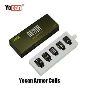100% оригинальные yocan Armor Arrol катушки замена Замена распылителя QDC Core Кварц Двойная катушка Vape Бак для испарителя Набор подлинной