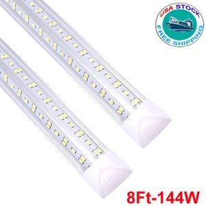4FT 5FT T8 Integrated V shape LED tube light tube T8 lamp 2835 LED light 1200mm 1500mm AC85-265V led tube high brightness